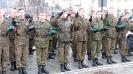 Przysięga strzelecka młodzieży z Kołaczyckiego Liceum