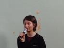 Spotkanie z absolwentką Justyną Wiatr 2005 r.